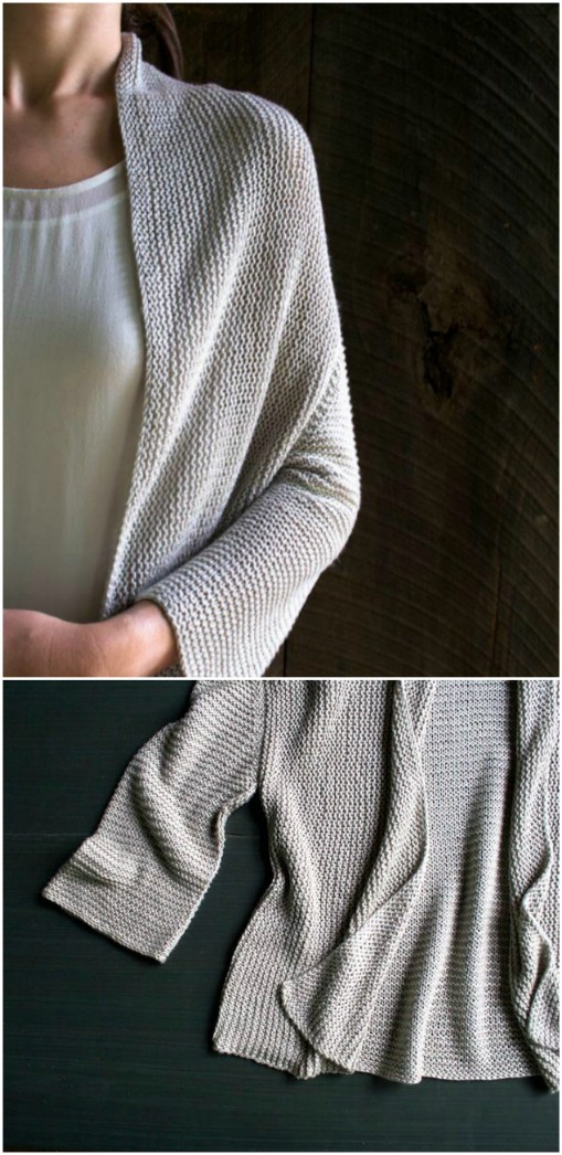 Folded Squares Knit Cardigan