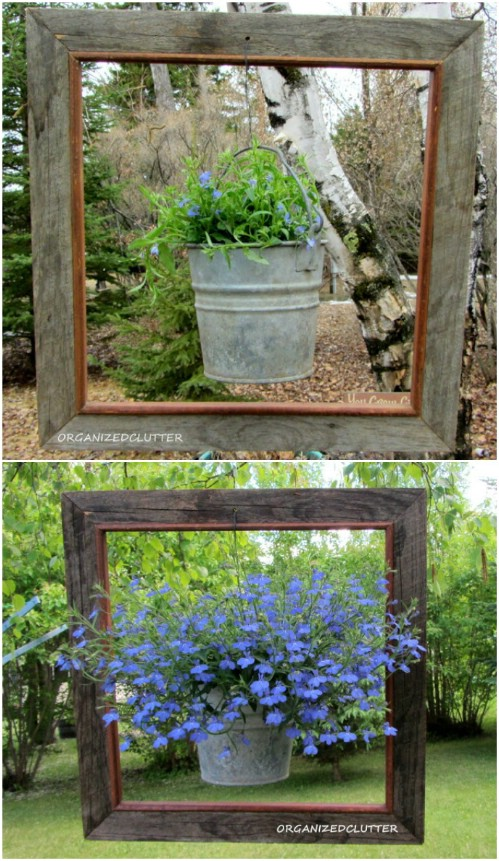 Upcycled Frame Planters