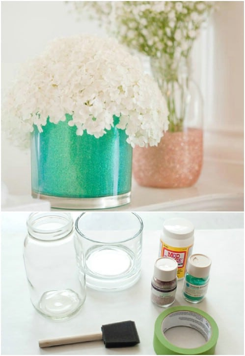 Summer Perfect DIY Glitter Vases