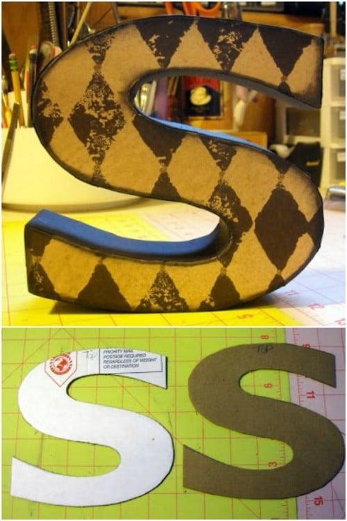 Decorative Cardboard Letters