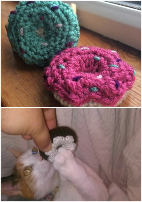 Mini Donuts Crochet Cat Toy