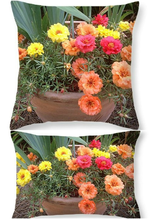 Summery Flower Pillow