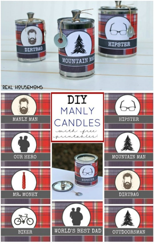 Easy DIY Candles For Dad
