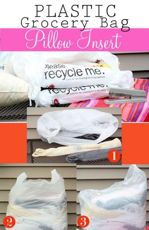 Plastic Bag Outdoor Pillow Insert