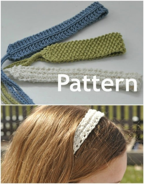 Slim Knit Tie On Headbands
