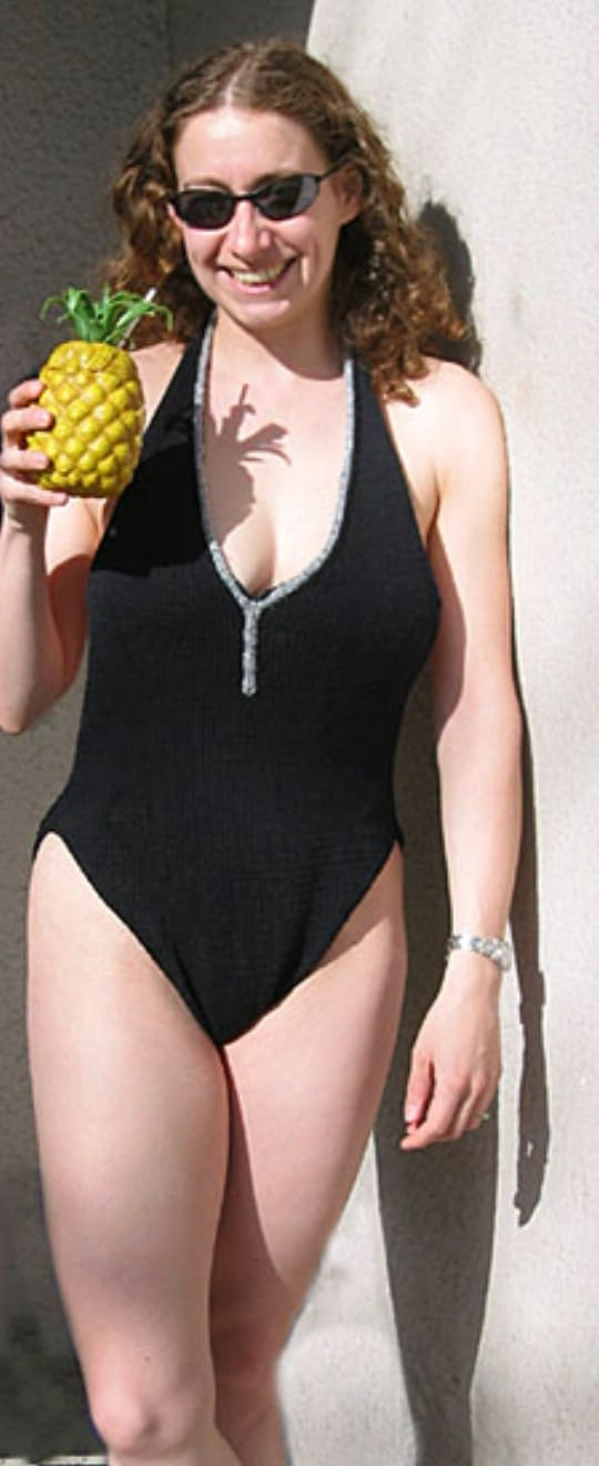 Knit One Piece Swimsuit