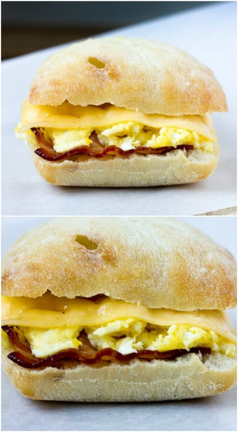 Easy DIY Bacon, Egg, And Gouda Breakfast Sandwich