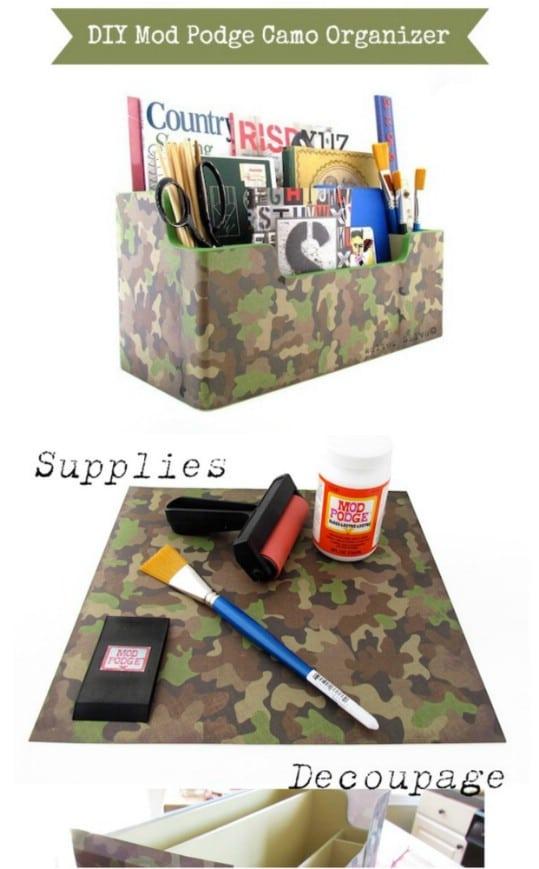 DIY Camouflage Organizer