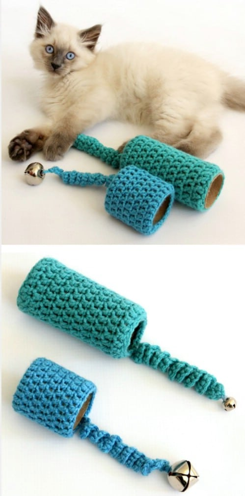Crochet Toy From Toilet Paper Roll