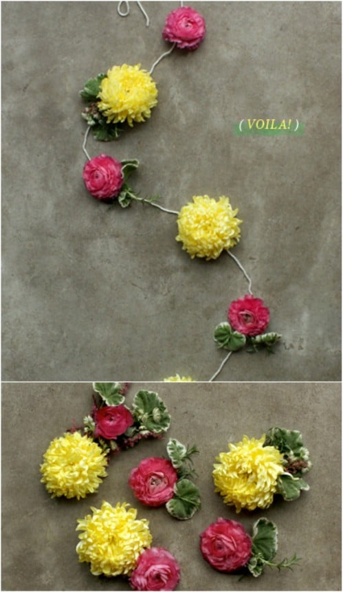 Fresh Summer Flower Garland
