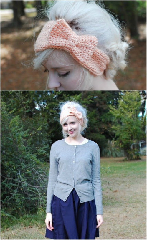 Easy Crochet Bow Headband