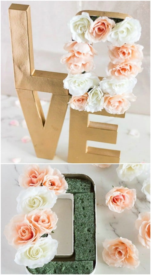 Paper Mache Floral Letters