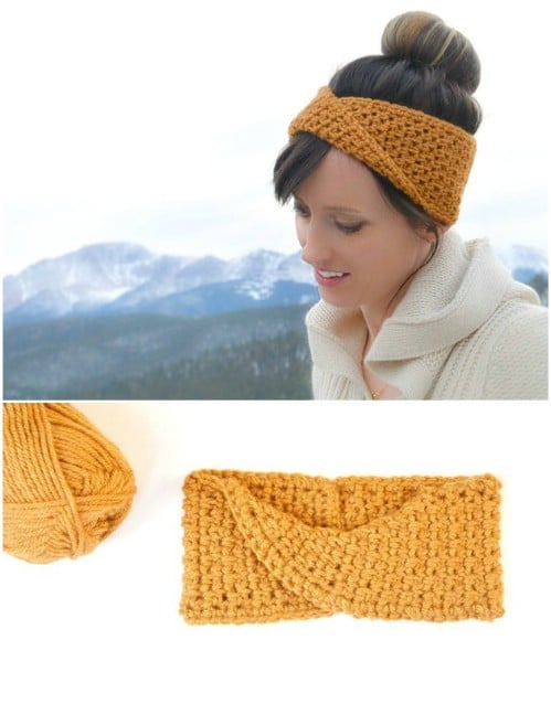DIY Twisted Crochet Headband