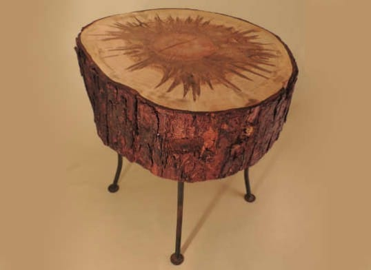 Rustic Tree Stump Nightstand
