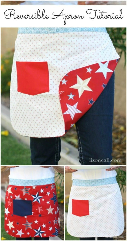 Reversible Stars And Stripes Apron