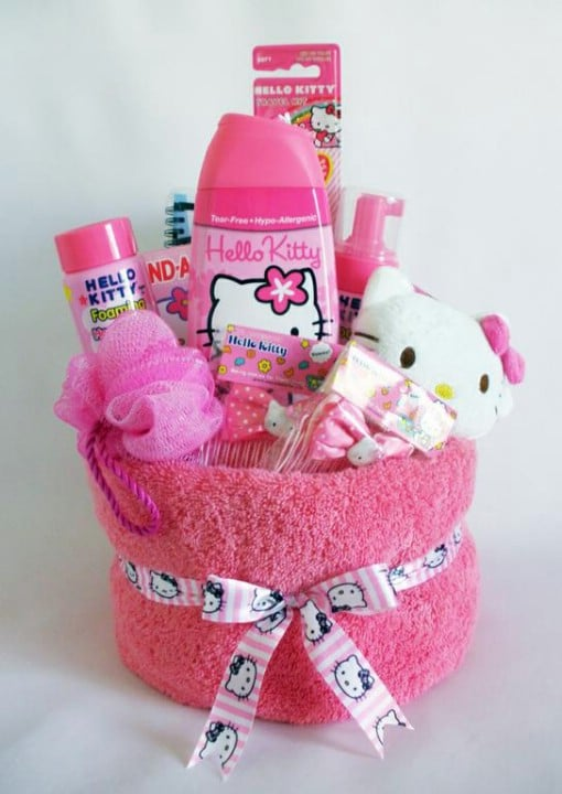 Hello Kitty Towel Basket