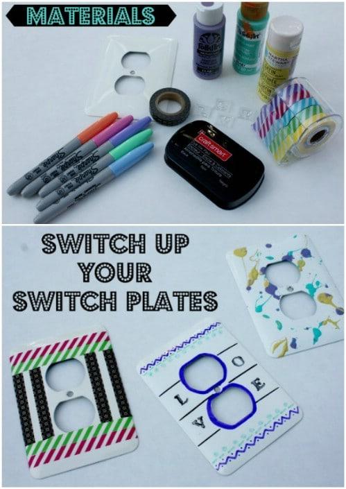 Sharpie Art Light Switch Cover