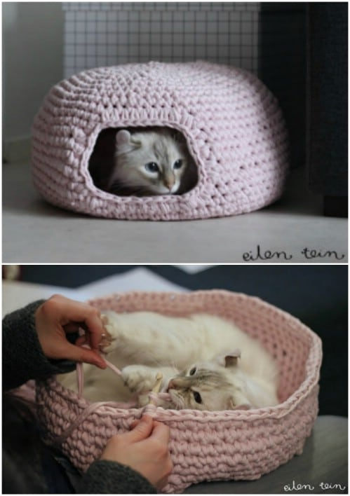 Crochet Cat Cave Lots Of Ideas That You Will Love | The WHOot | 708x499