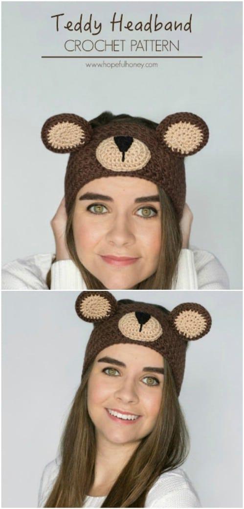 Teddy Bear Crochet Headband