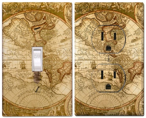 Old World Map Switch Cover