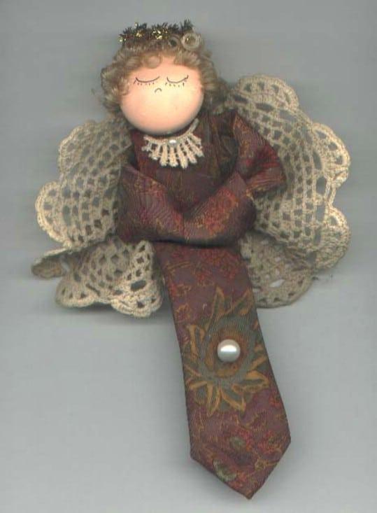 Repurposed Necktie Angel