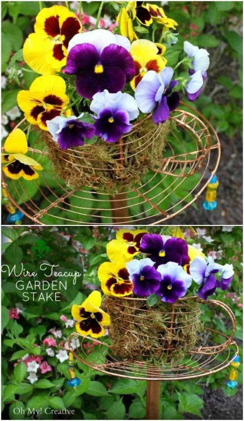 DIY Teacup Garden Stake