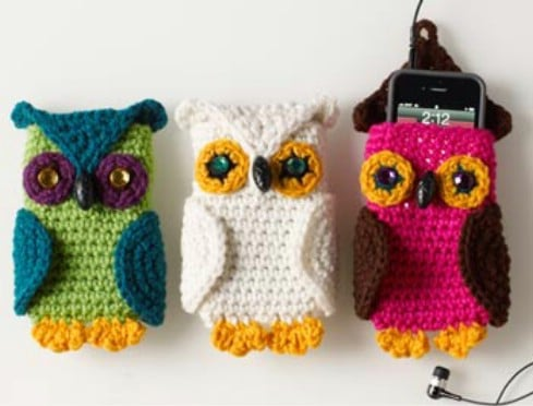 Cute Crochet Owl Cell Phone Cozy
