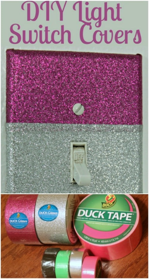 DIY Sparkly Duct Tape Covers