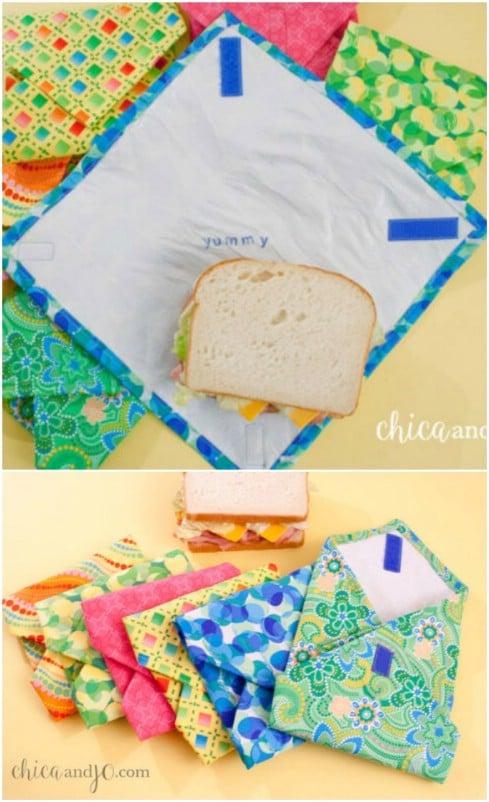 Reusable Plastic Bag Sandwich Wraps