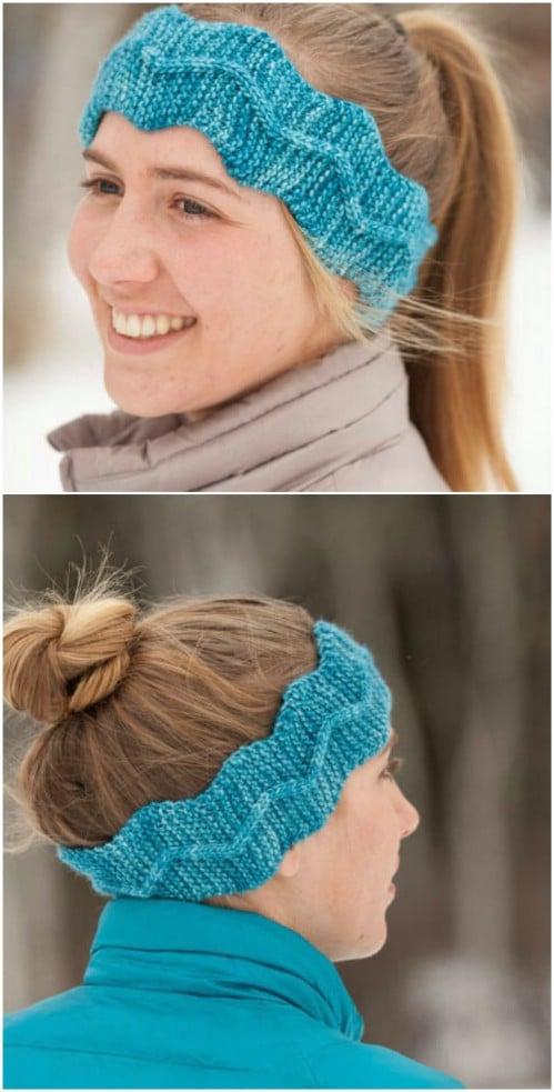 Knit Zig Zag Cable Headband