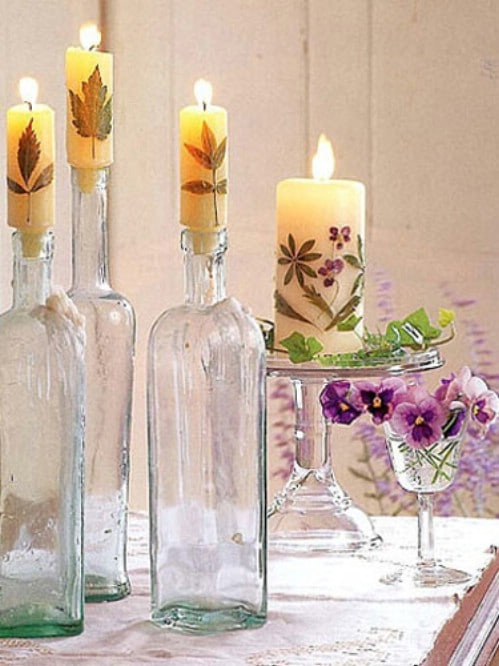 Easy DIY Dried Flower Candles