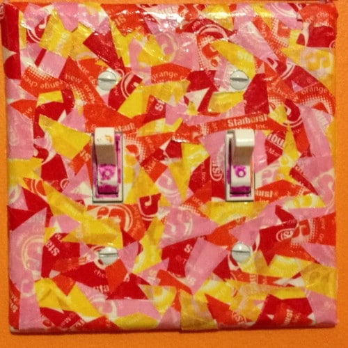 Starburst Decoupage Switch Plate Covers