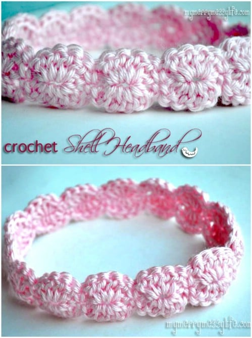 Dainty And Elegant Shell Crochet Headband