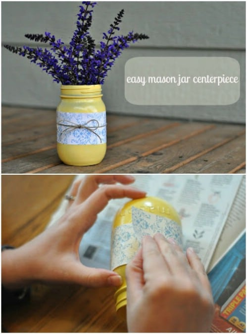 Quick Mason Jar Centerpiece