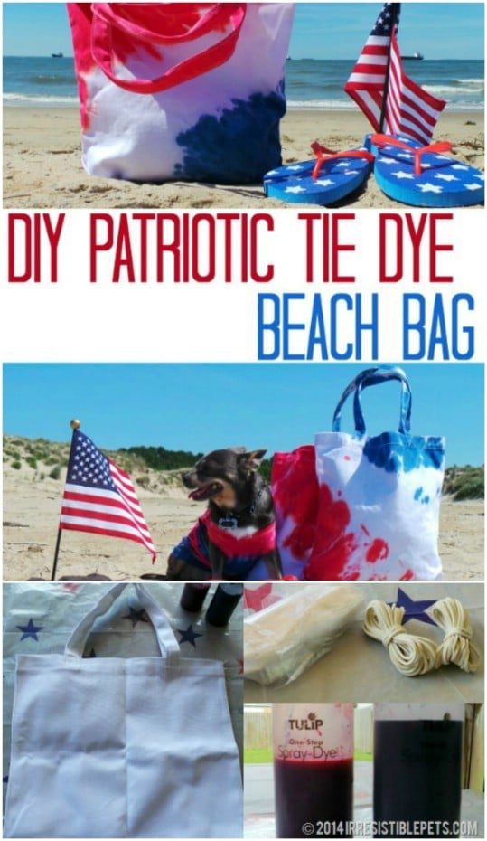 DIY Patriotic Beach Bag