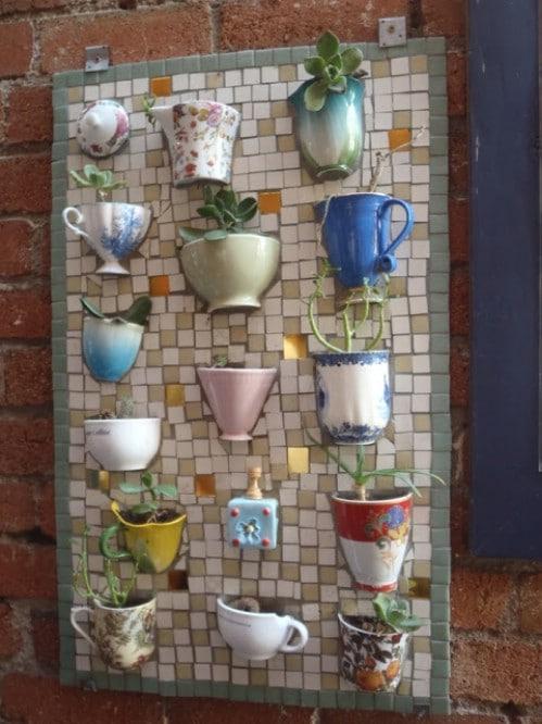 Mosaic Board Succulent Planter