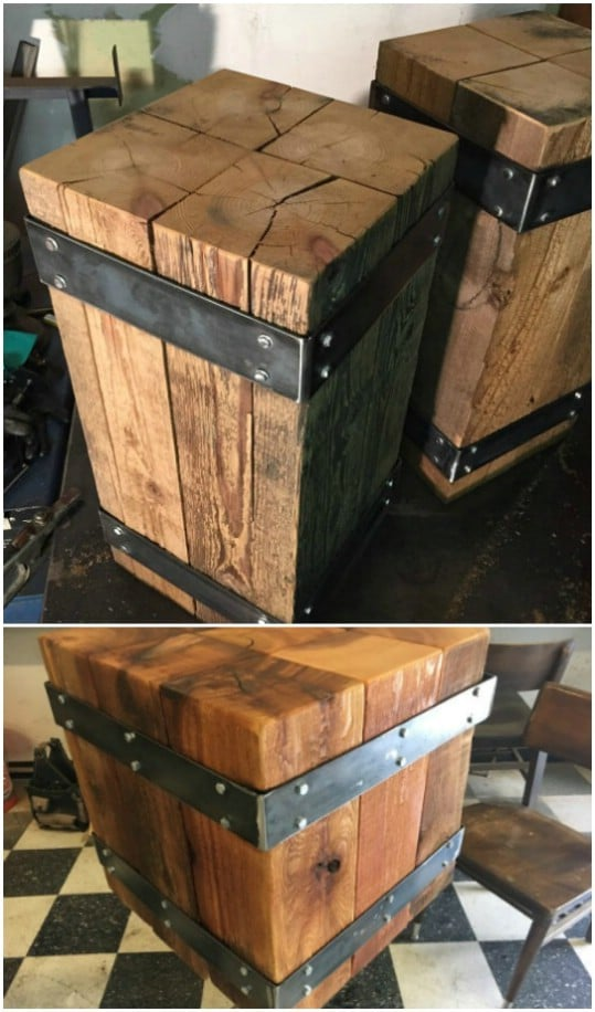 Industrial Beam Nightstand