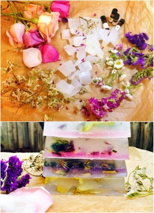 DIY Rose Petal Soaps