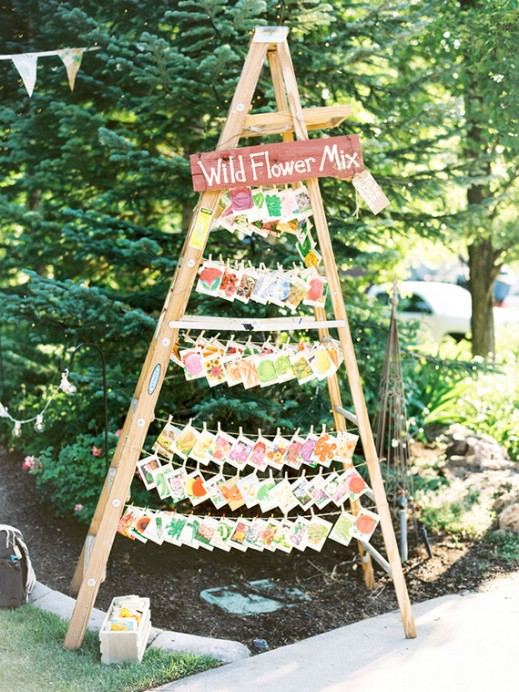 Rustic Ladder Favor Display