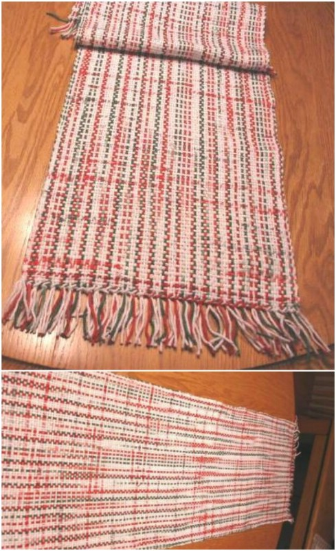 Hand Woven Recycled Grocery Bag Table Runner