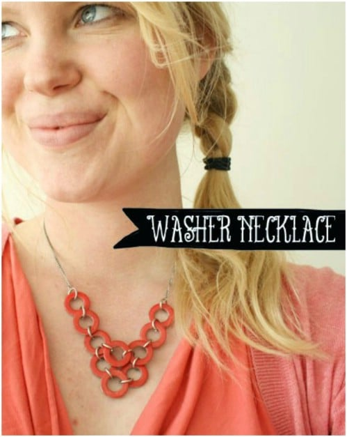 Colorful DIY Washer Necklace