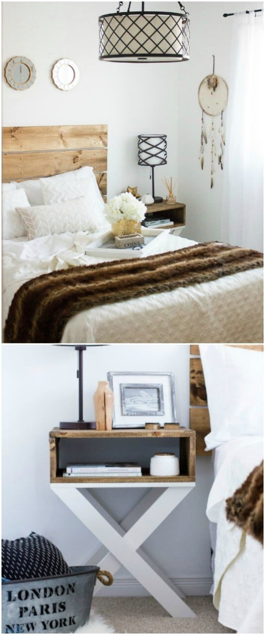 DIY X Leg Nightstand