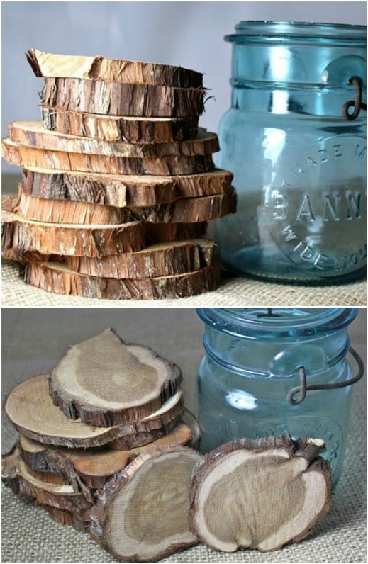 Rustic Wooden Circle Table Displays