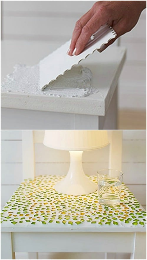 Beautiful DIY Mosaic Bedside Table