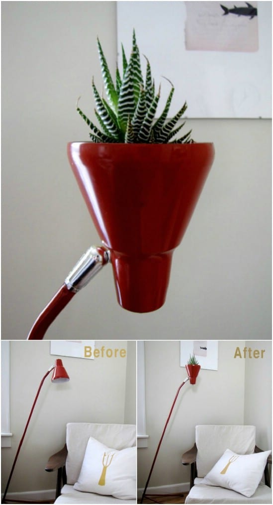 DIY Adjustable Lamp Planter