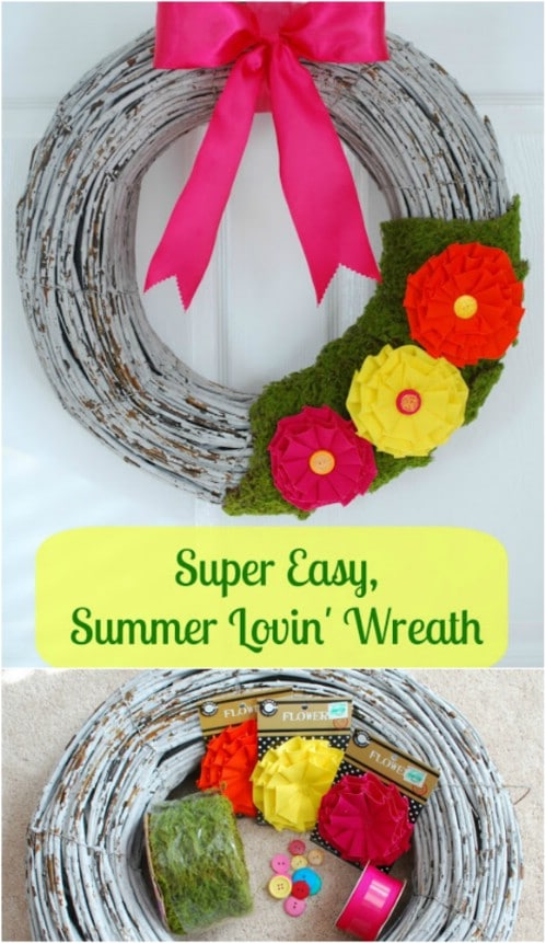 Colorful Summer Grapevine Wreath