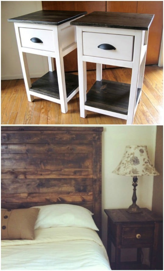 DIY Mini Farmhouse Night Tables