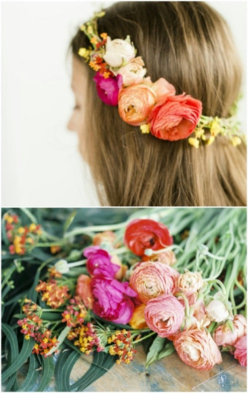 10 Minute Floral Halo