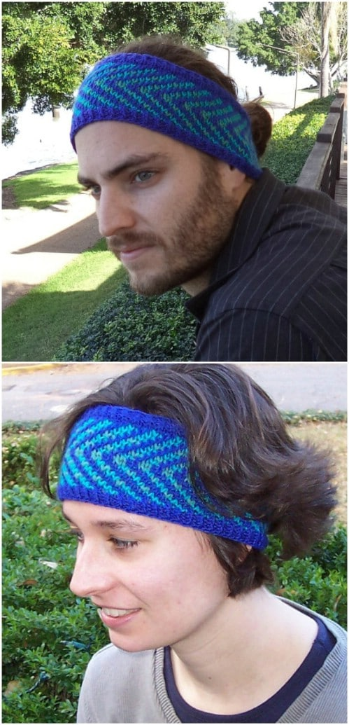 Knit Fair Isle Headband