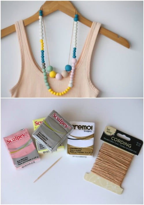 DIY Polymer Clay Bead Necklace